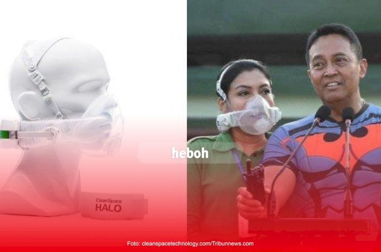 Masker transparan milik Diah Erwiany Trisnamurti Hendrati Hendropriyono mencuri perhatian publik.