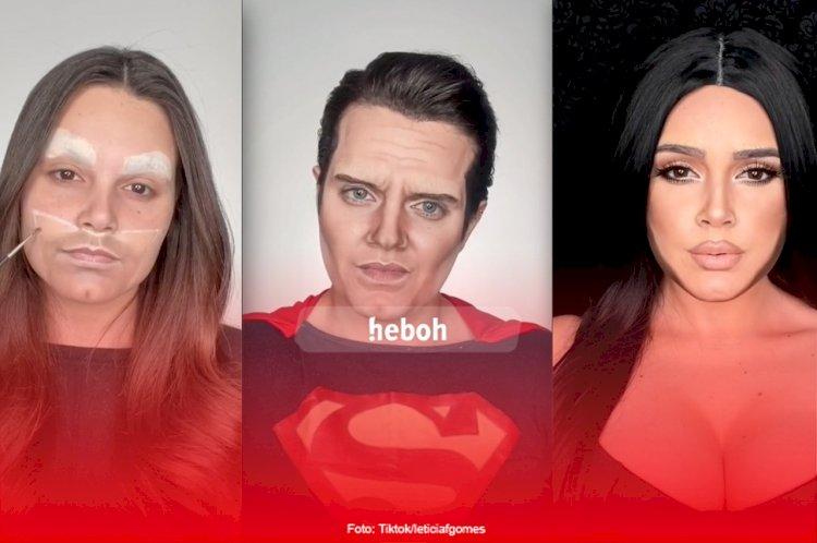 Keren Banget! Lewat Makeup Cewek Ini Bisa Berubah Jadi Artis Terkenal, Tokoh Frozen, Sampai Superhero Pria!